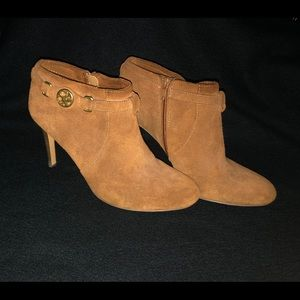 Authentic Coach ankle boots suede tan brown 8.5